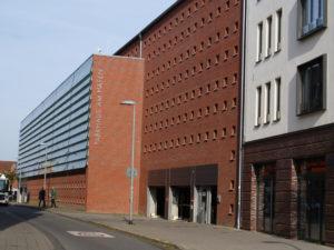 Parkhaus Stralsund Zufahrt