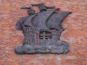 Stralsund Koggenspeicher Schiff Wand