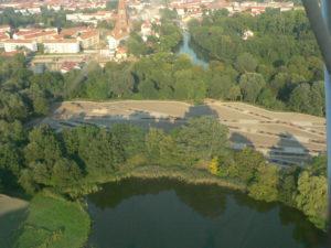 Landesgartenschau Rathenow im Bau von oben